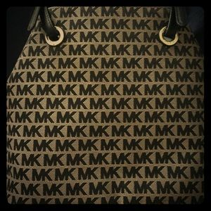 Michael Kors  New with tags Black and Tan canvas